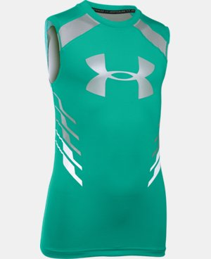 Boys' UA HeatGear® Armour Up Fadeaway Fitted Tank  4 Colors $14.24