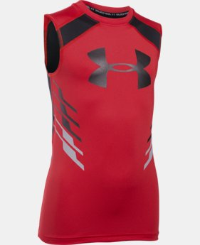 Boys' UA HeatGear® Armour Up Fadeaway Fitted Tank  1 Color $24.99