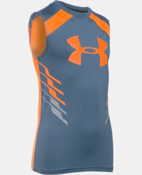 Boys' UA HeatGear® Armour Up Fadeaway Fitted Tank LIMITED TIME: FREE U.S. SHIPPING 1 Color $14.24