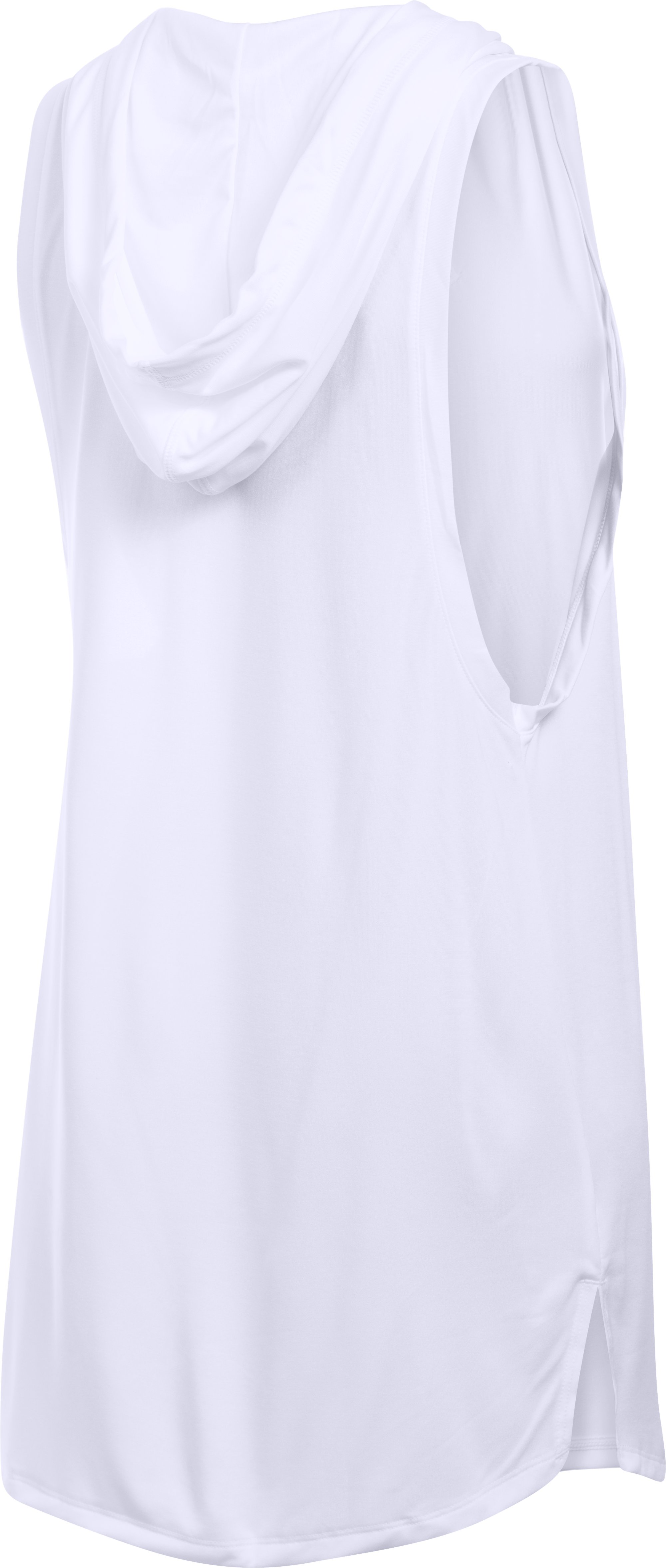 Women's UA Tech™ Hooded Tunic, White, undefined