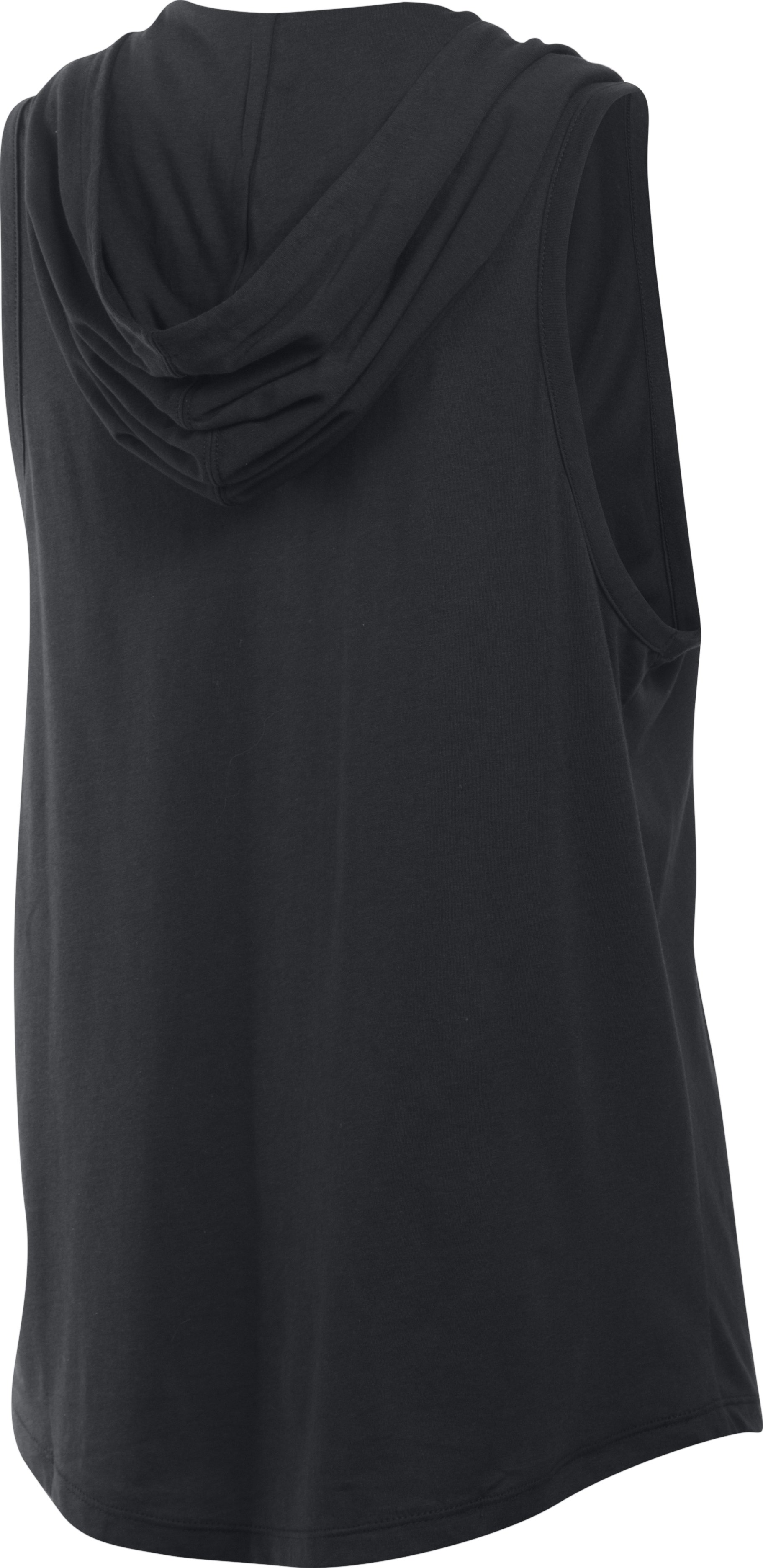 Women's UA Cotton Modal Sleeveless Hoodie, Black