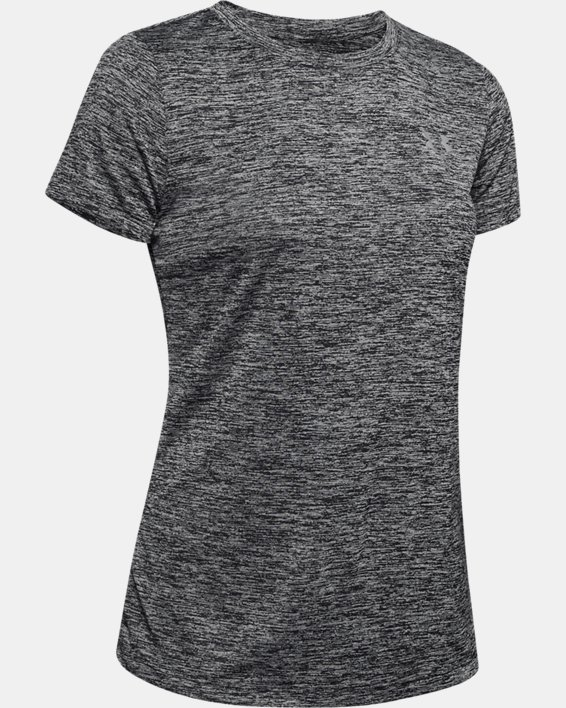 T-shirt UA Tech™ Twist pour femme, Black, pdpMainDesktop image number 6