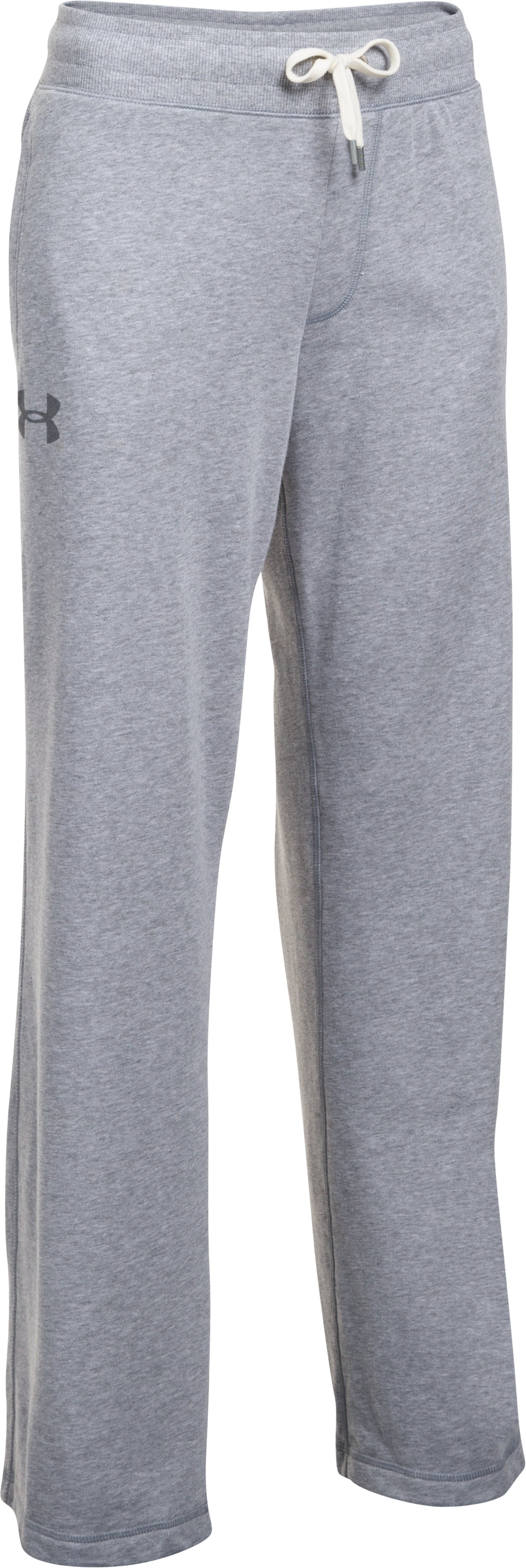 Women's UA Favorite French Terry Slouchy Pant, True Gray Heather,