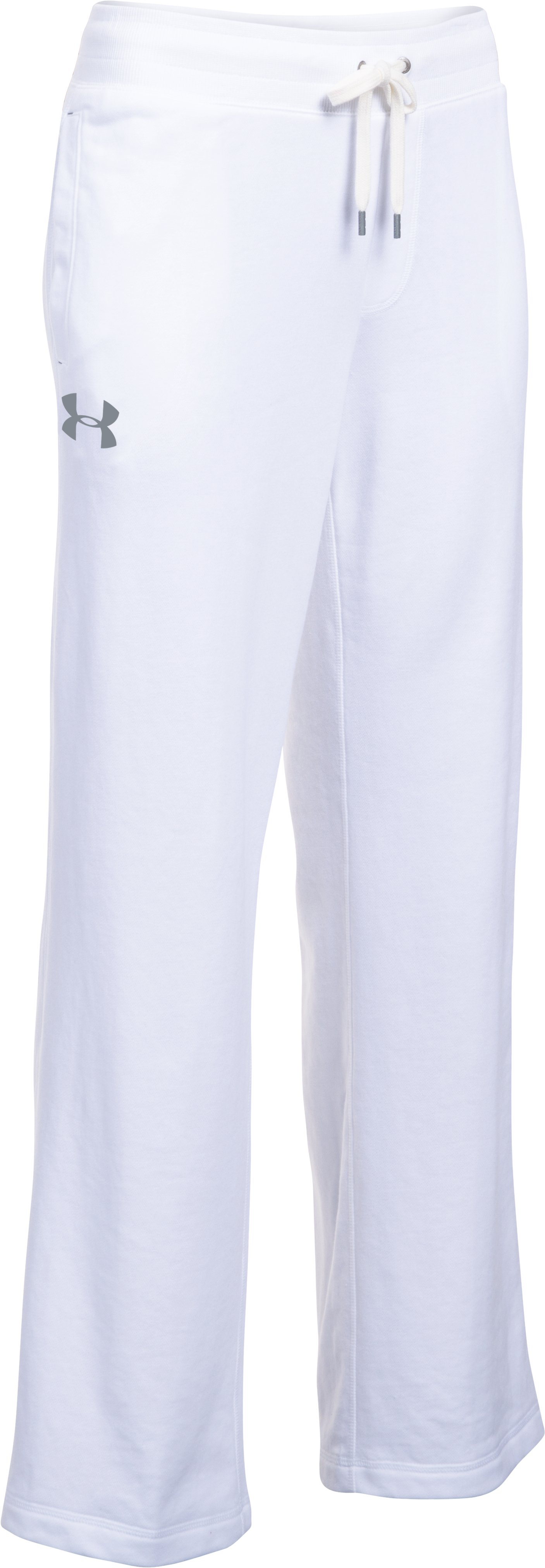 Women's UA Favorite French Terry Slouchy Pant, White,