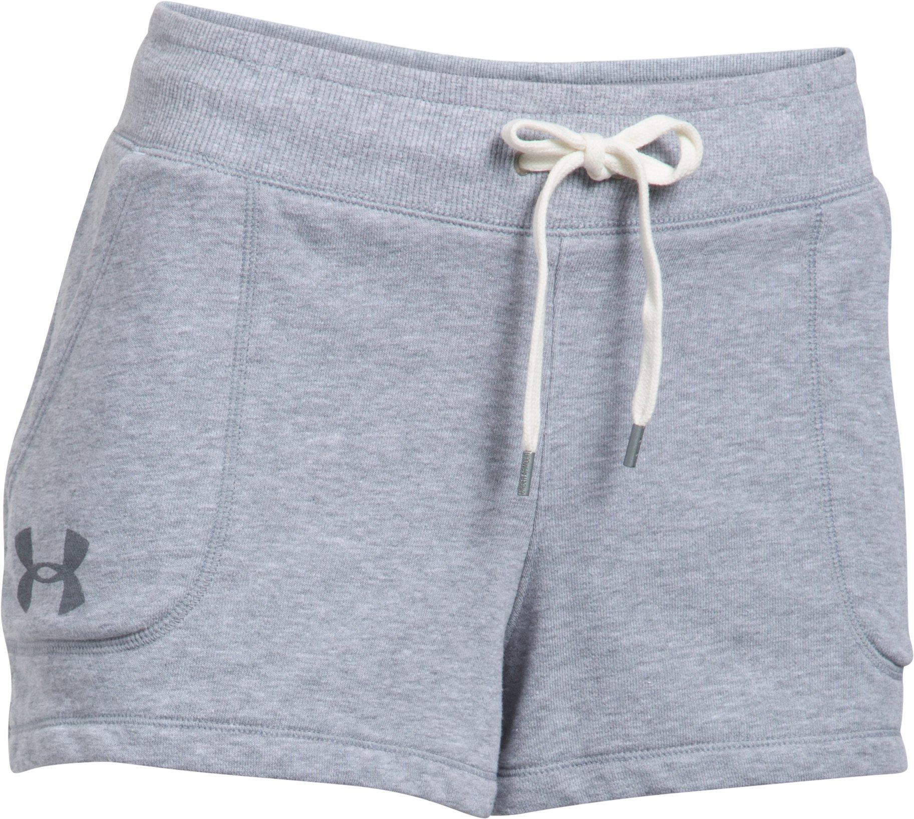 Women's UA Favorite French Terry Shorty, True Gray Heather