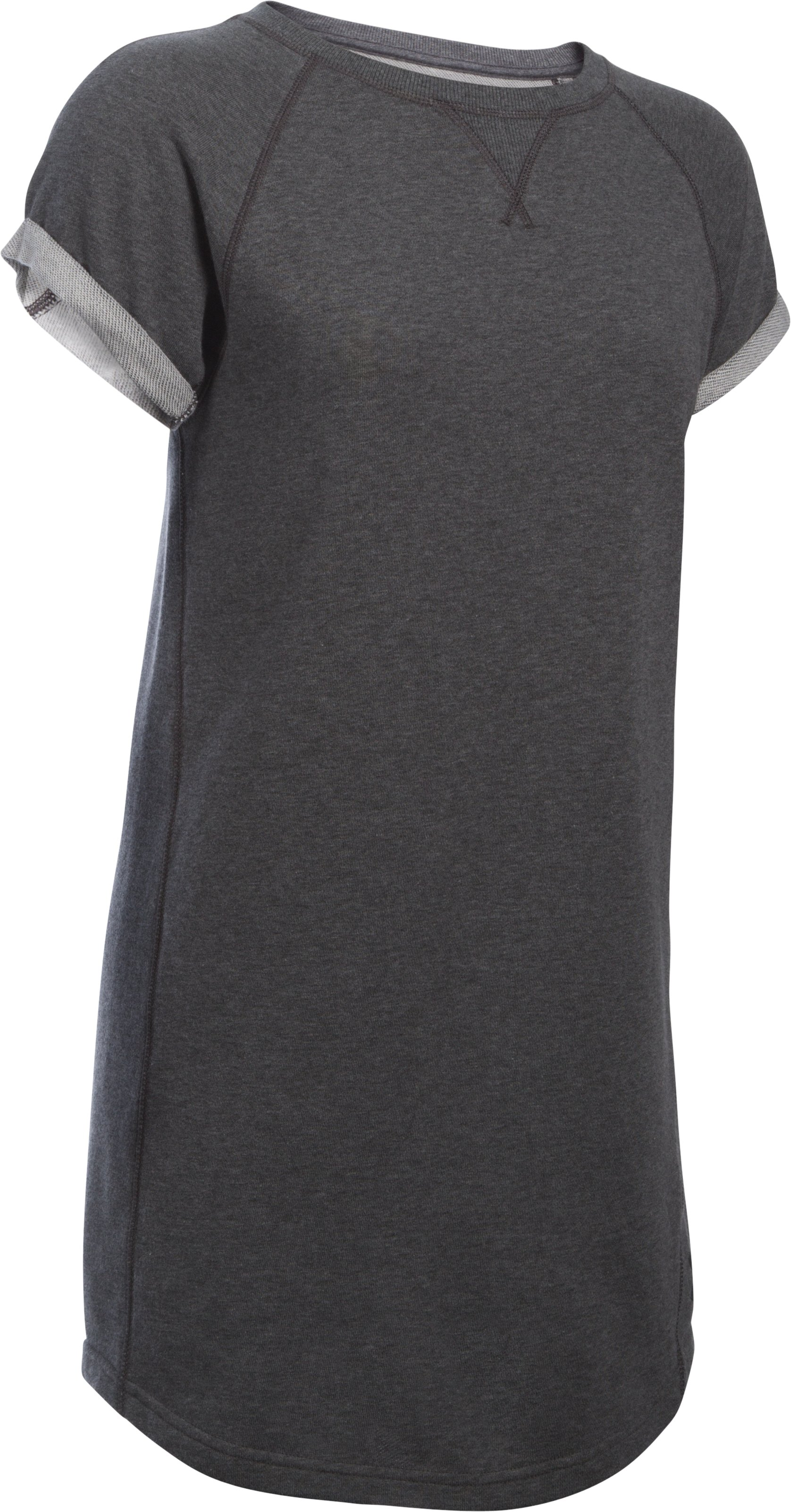 Women's UA Favorite  French Terry Tunic Dress, Carbon Heather, undefined