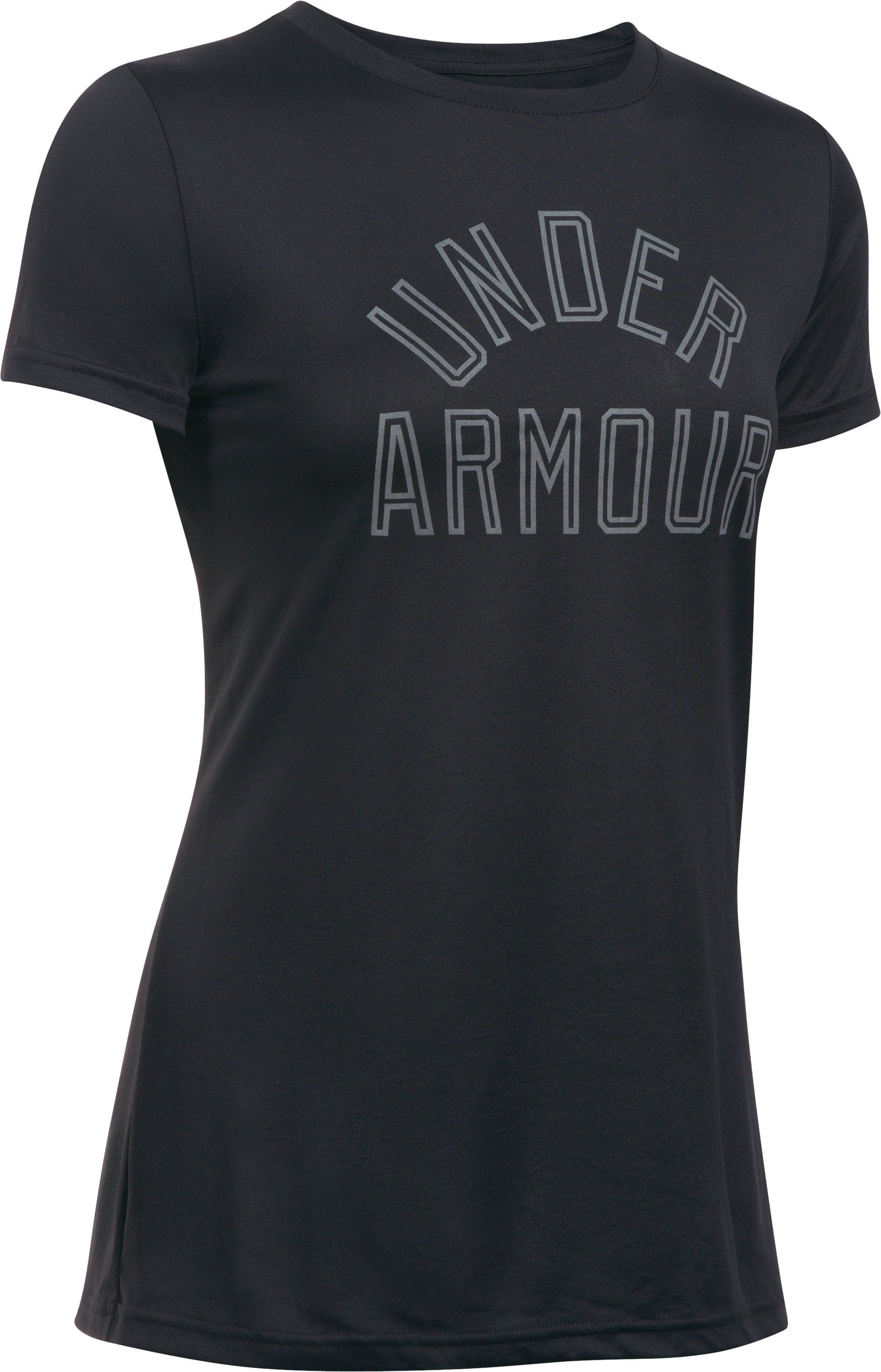 Women's UA Tech™ Word Mark T-Shirt, Black