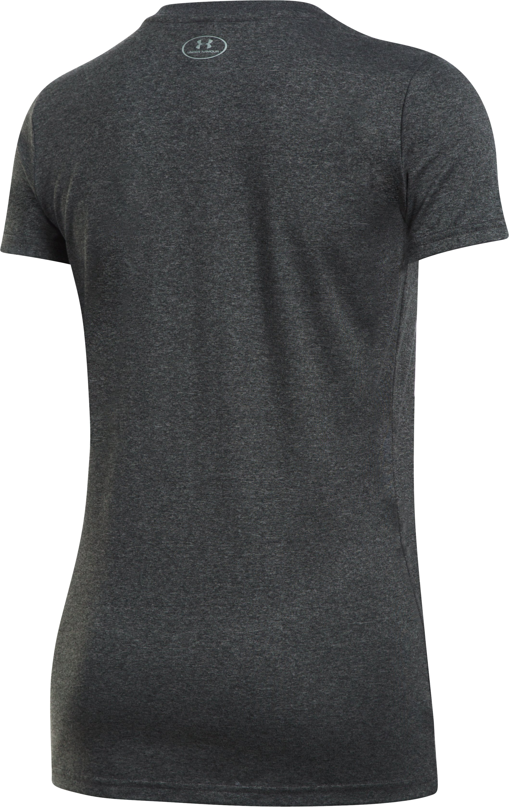 Women's UA Tech™ Word Mark T-Shirt, Carbon Heather,