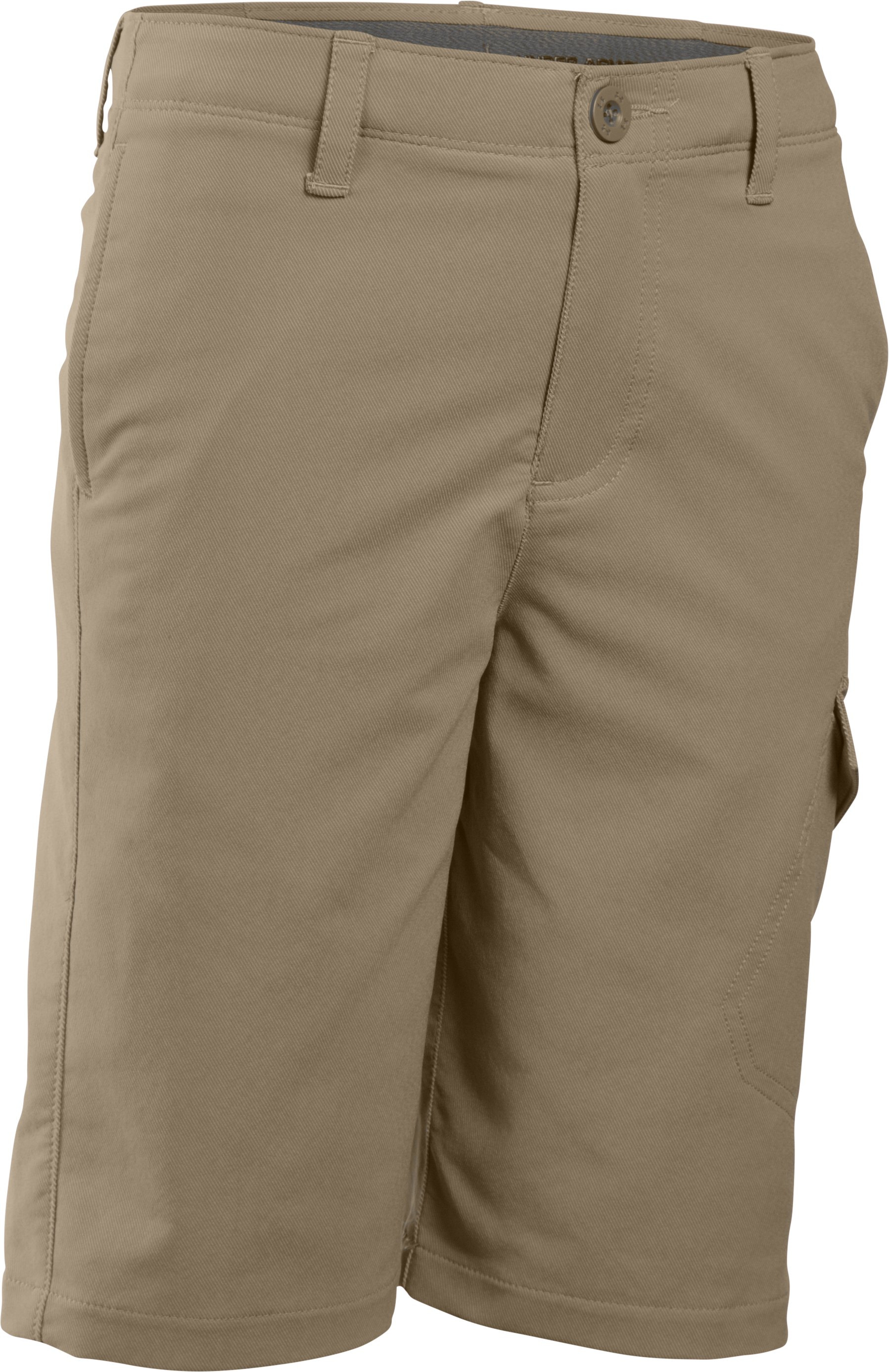 Boys' UA Match Play Cargo Golf Shorts, Canvas, undefined