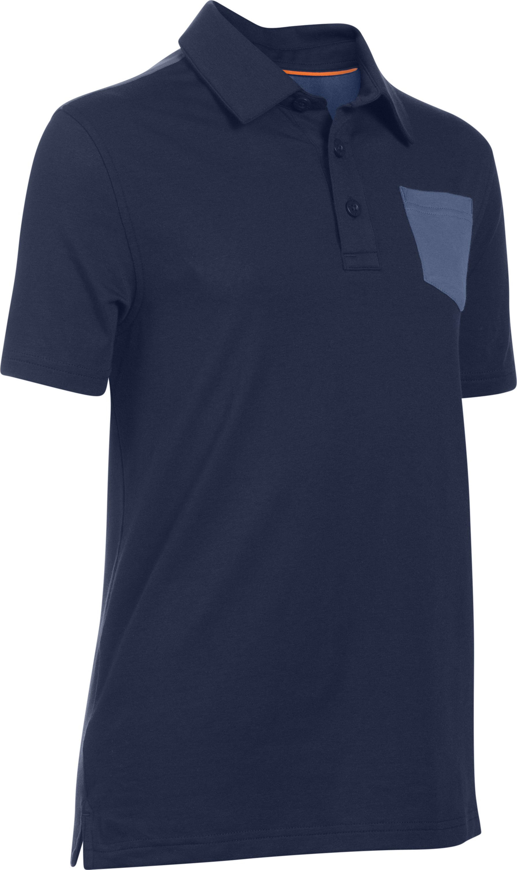 Boys' UA Soft-Pitch Polo, NAVY SEAL
