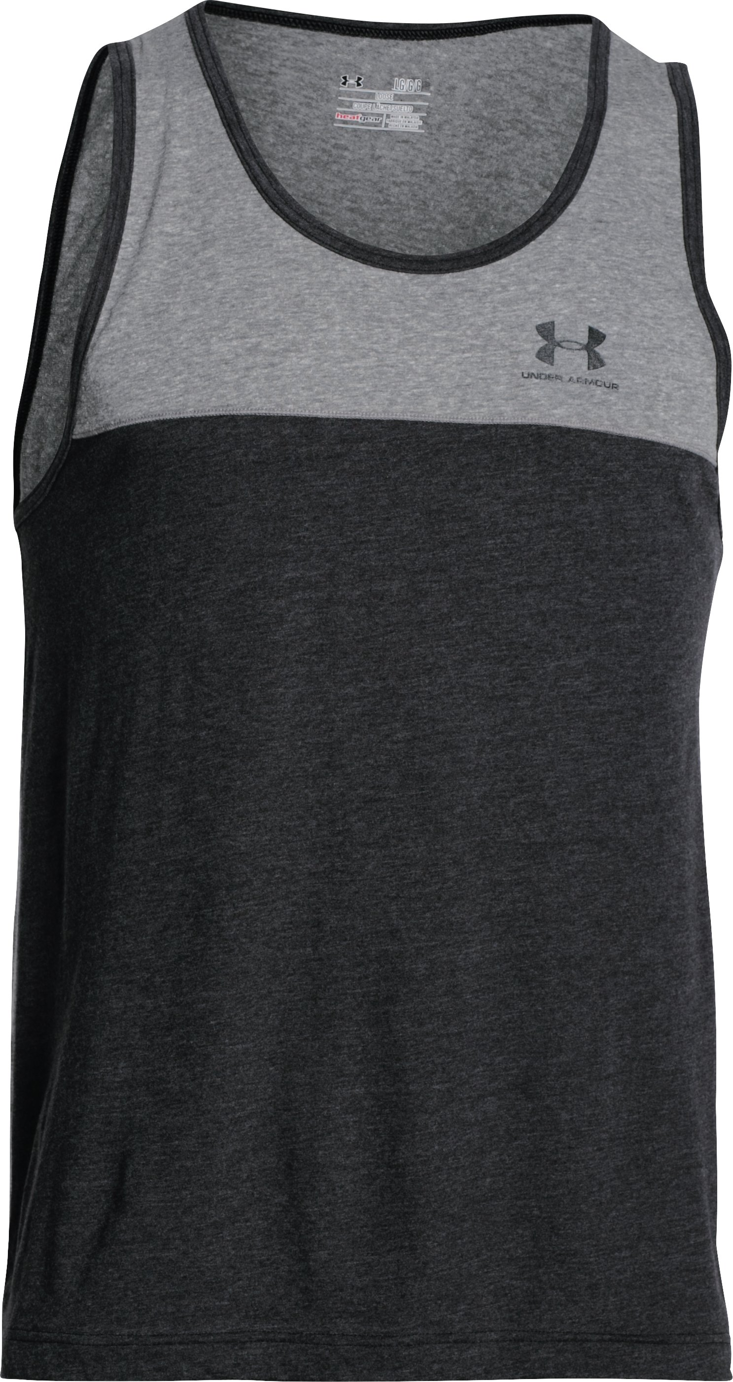 Men's UA Tri-Blend Tank, Asphalt Heather, undefined