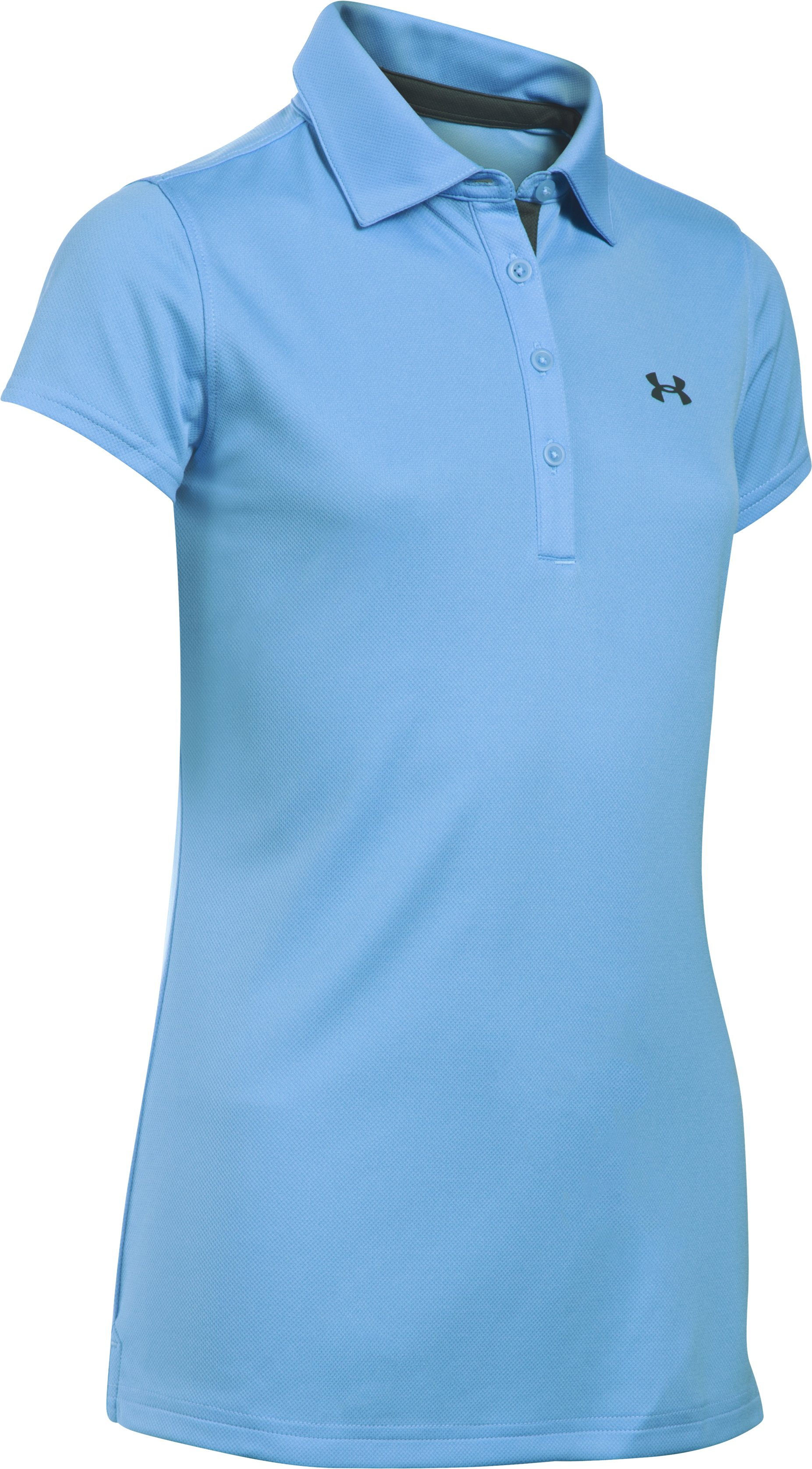 Girls' UA Play Up Polo, Carolina Blue