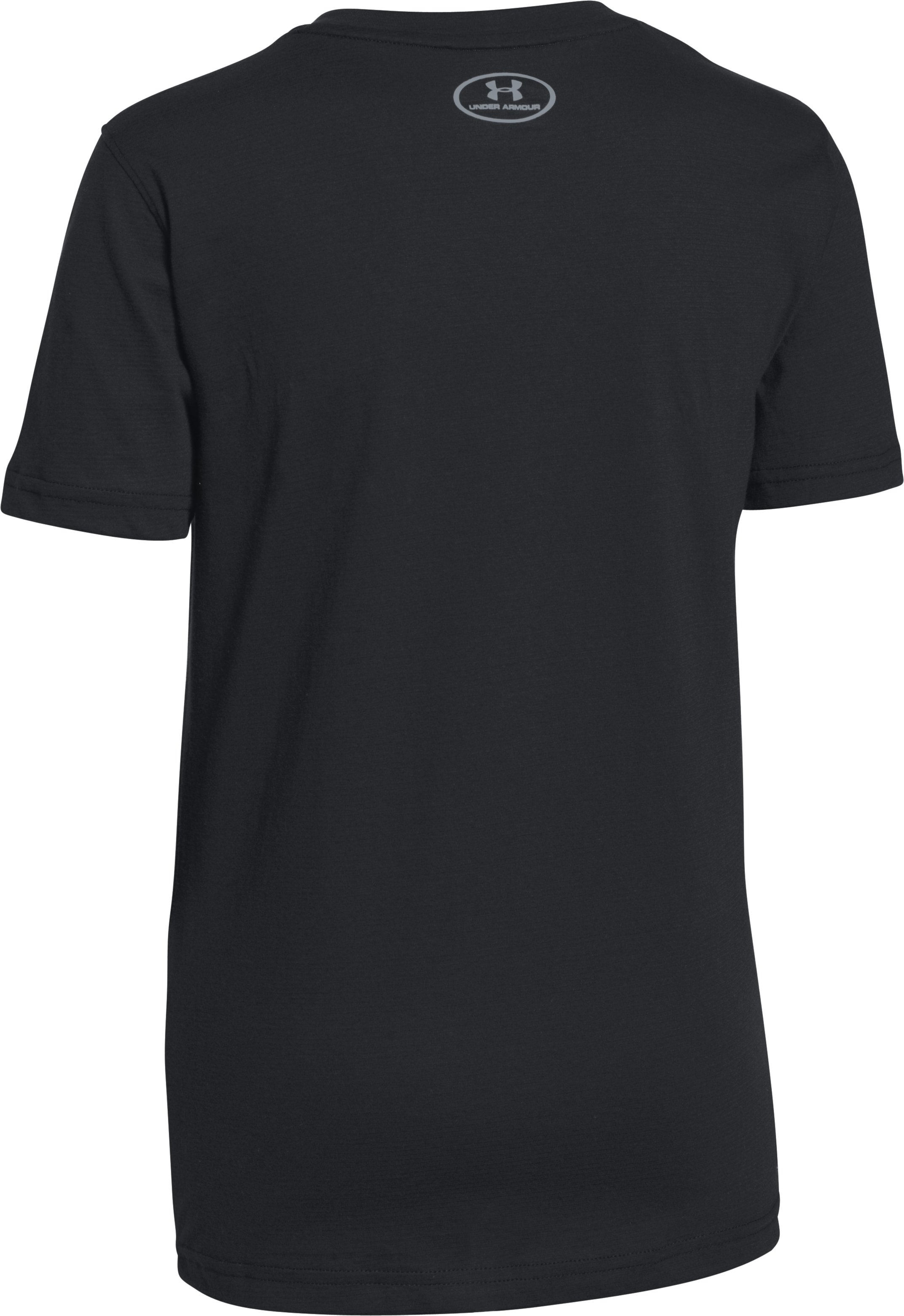 Boys' UA Charged Cotton® T400 T-Shirt, Black , undefined