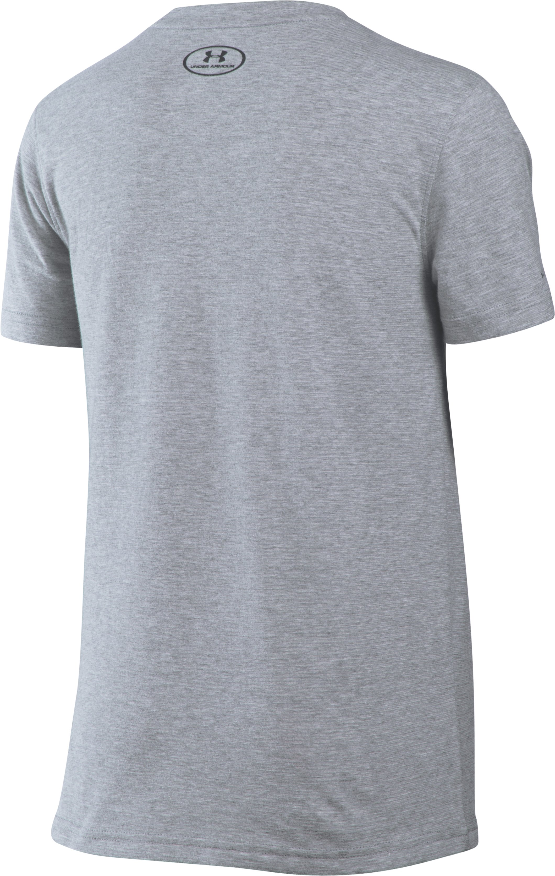 Boys' UA Charged Cotton® T400 T-Shirt, True Gray Heather