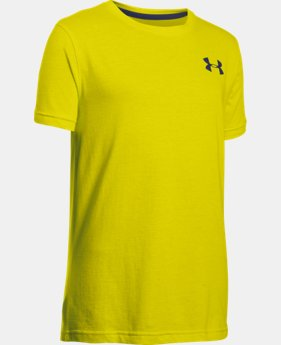 New Arrival Boys' UA Charged Cotton® T-Shirt  1 Color $17.99 to $22.99