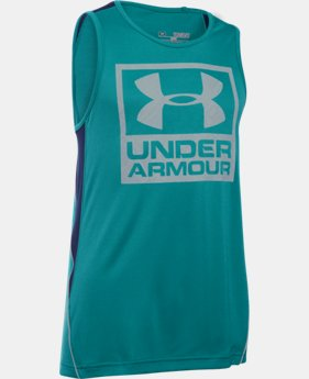 Boys' UA Show Me Sweat Tank LIMITED TIME: FREE U.S. SHIPPING 2 Colors $17.24