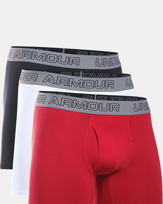 "Men's Charged Cotton® Stretch 6"" Boxerjock® - 3-Pack, White, pdpMainDesktop image number 2"