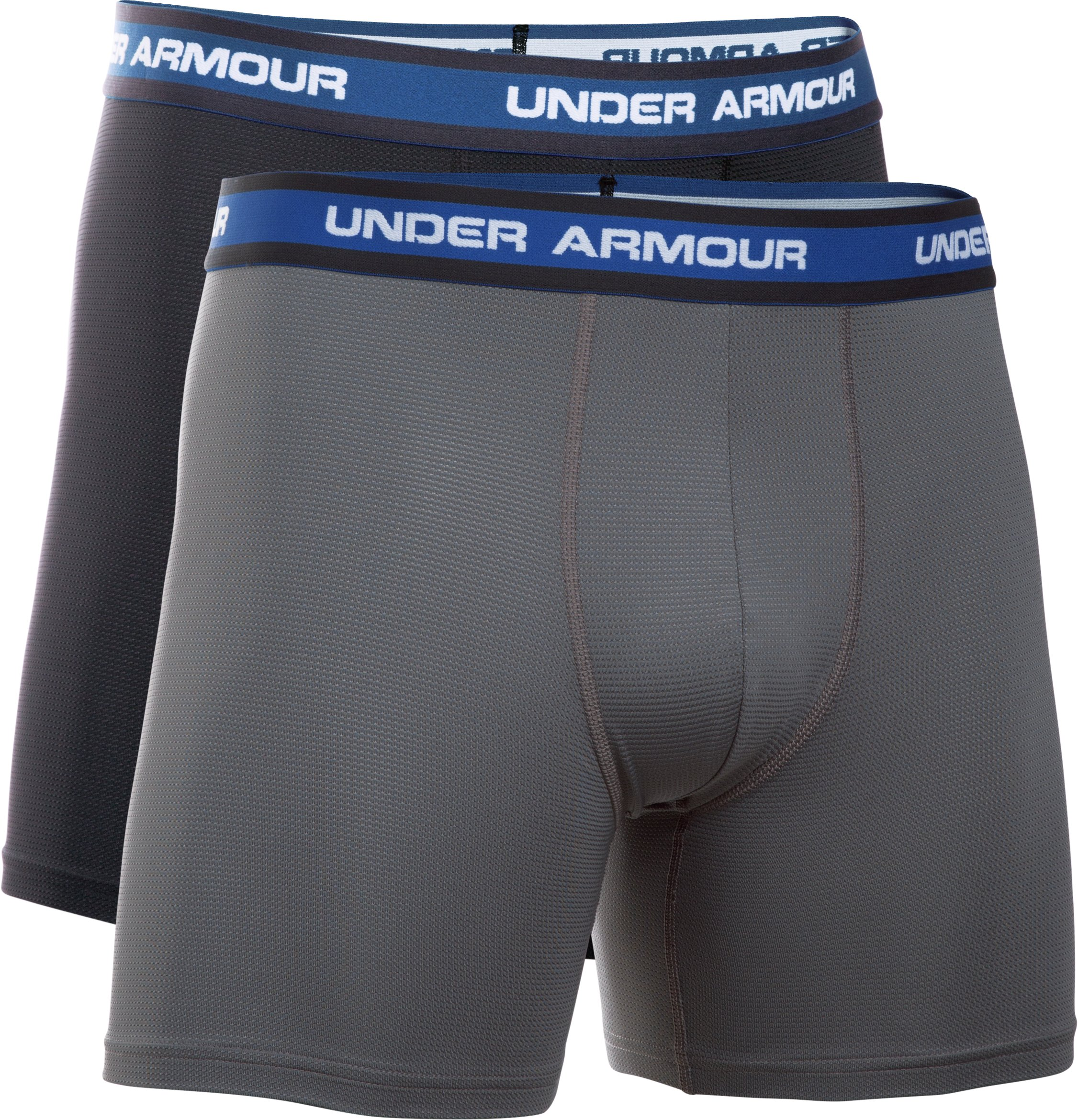 Men's UA Mesh Performance Boxerjock® 2-Pack, Black ,