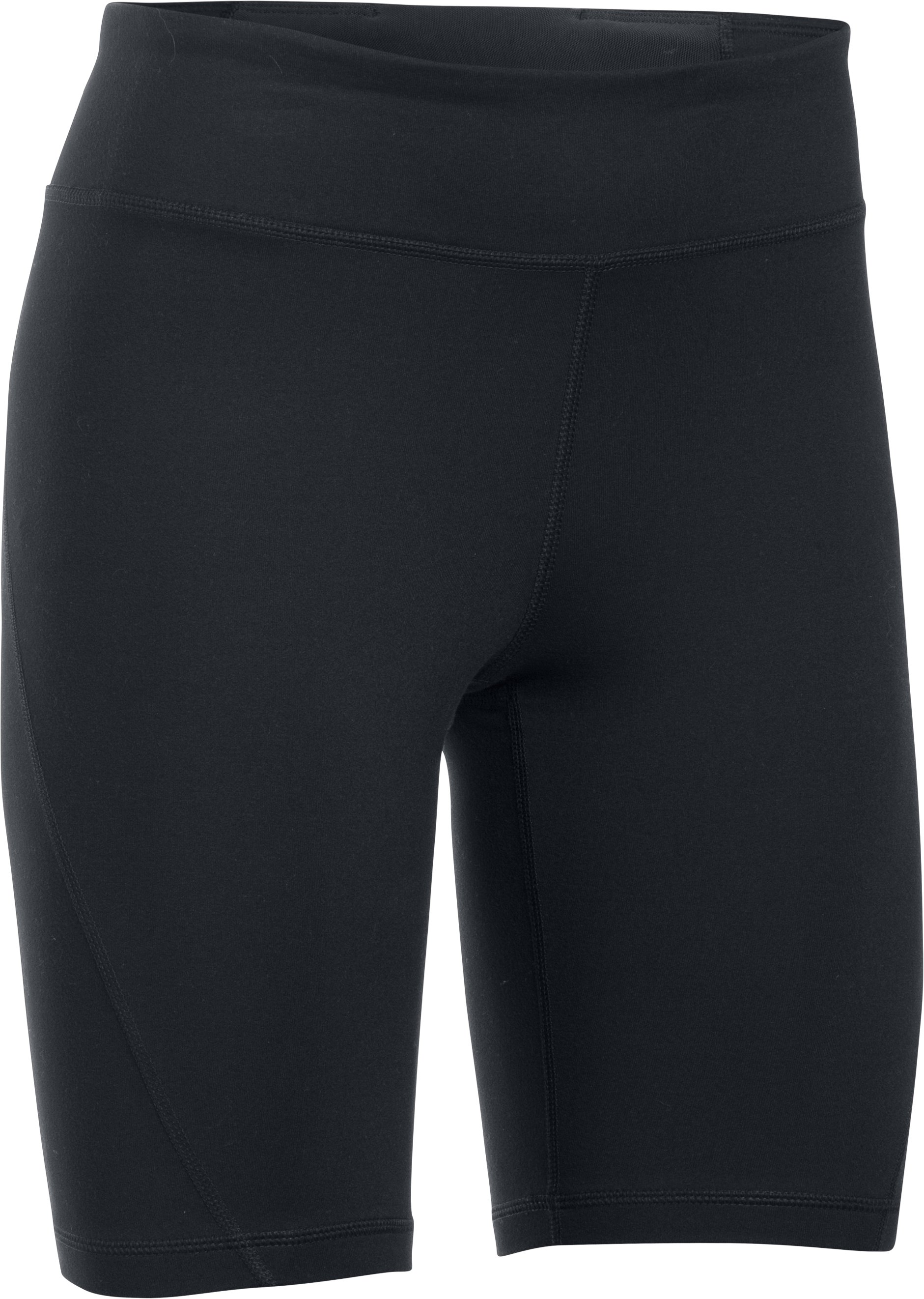 Women's UA Mirror Long Shorts, Black ,