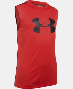Boys' UA Tech™ Big Logo Novelty Sleeveless T-Shirt LIMITED TIME: FREE SHIPPING 1 Color $24.99