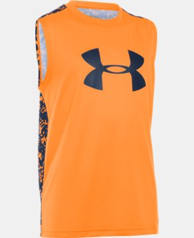 Boys' UA Tech™ Big Logo Novelty Sleeveless T-Shirt LIMITED TIME: FREE SHIPPING  $24.99