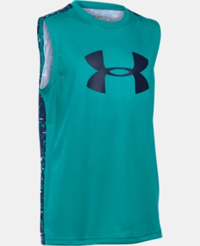 Boys' UA Tech™ Big Logo Novelty Sleeveless T-Shirt  1 Color $29.99