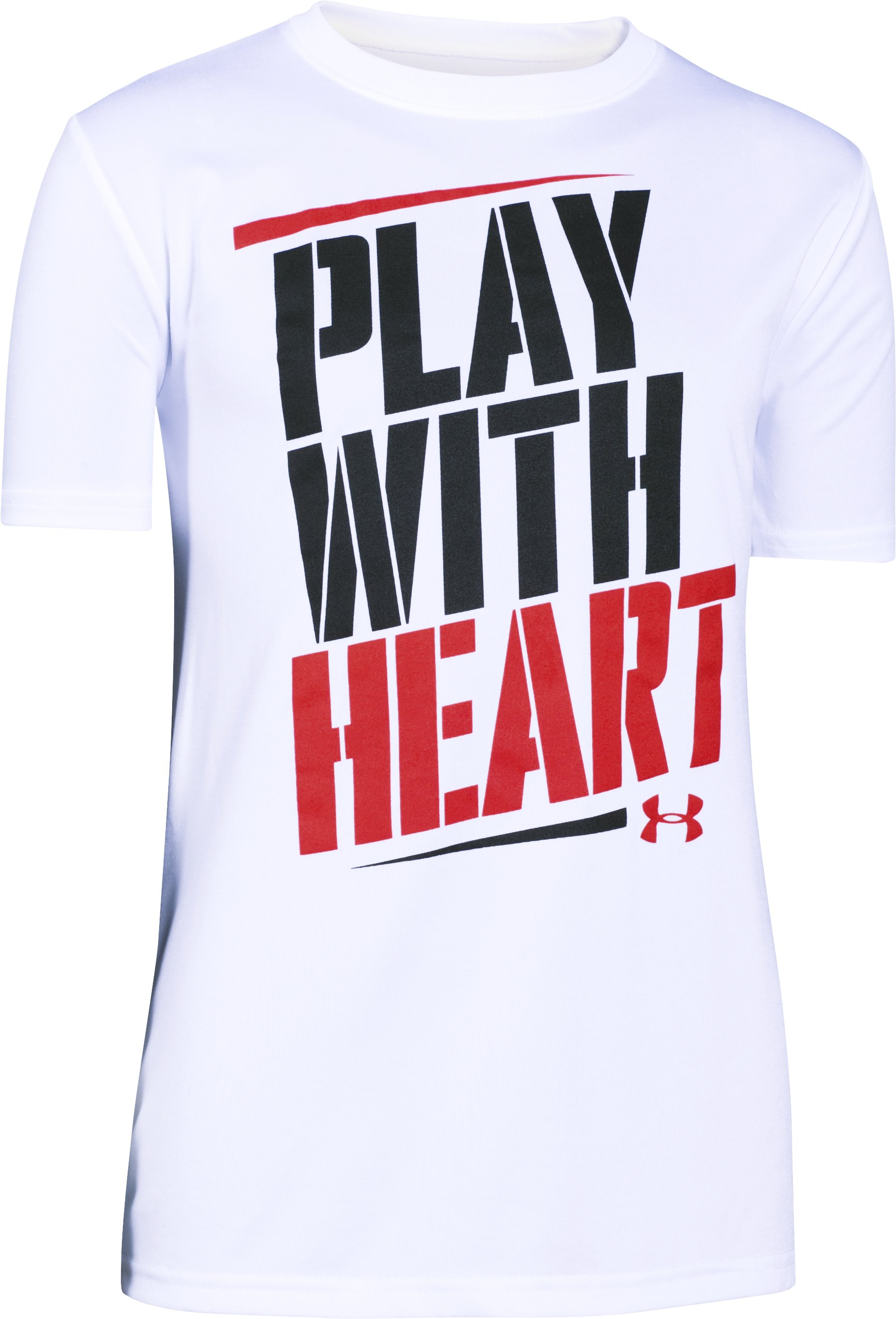 Boys' UA Play With Heart T-Shirt, White, undefined