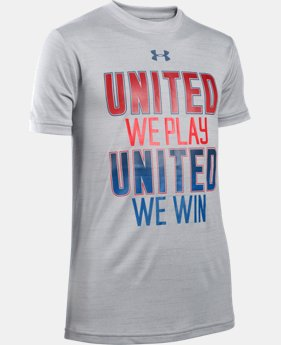 New Arrival Boys' UA United We Play T-Shirt LIMITED TIME: FREE SHIPPING  $24.99