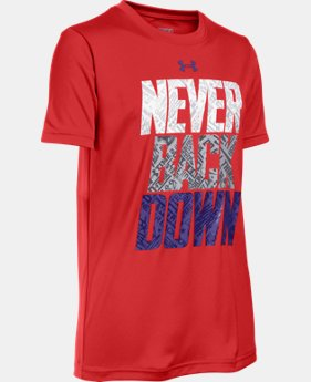 New Arrival Boys' UA Never Back Down T-Shirt  1 Color $29.99