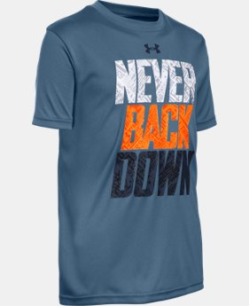 New Arrival Boys' UA Never Back Down T-Shirt LIMITED TIME: FREE SHIPPING  $29.99
