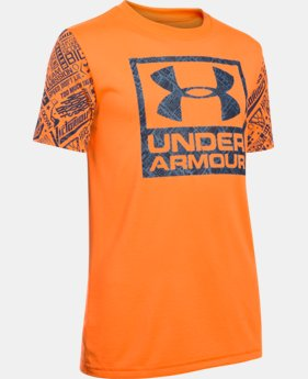 New Arrival Boys' UA Never Back Down Brand T-Shirt   $24.99