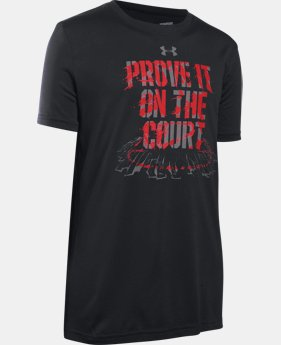 Boys' UA Prove It On The Court T-Shirt LIMITED TIME: FREE SHIPPING 2 Colors $22.99