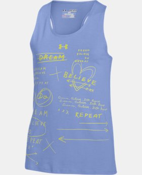 Girls' UA Dream Believe Repeat Tank  1 Color $17.99