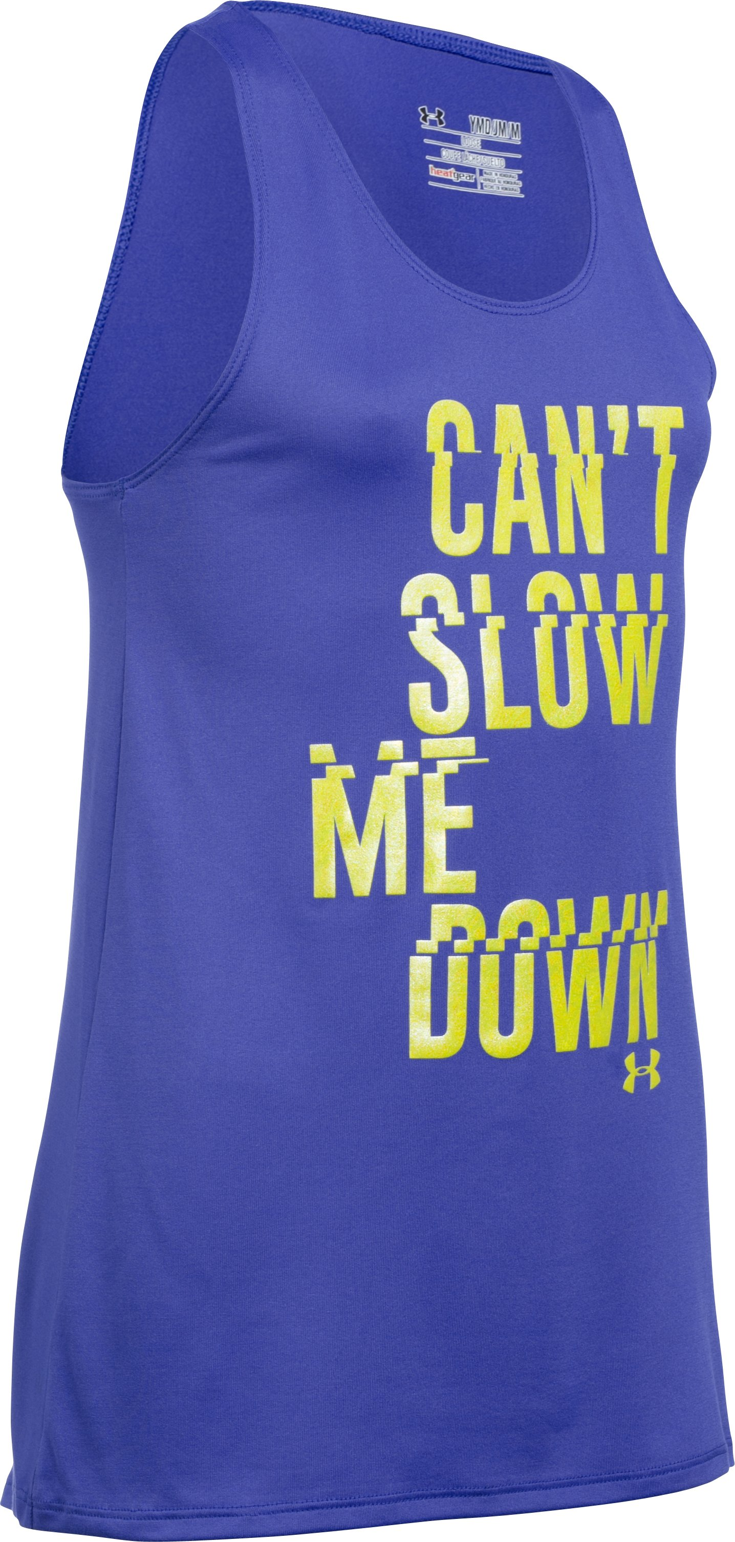 Girls' UA Can't Slow Me Down Tank, CONSTELLATION PURPLE, zoomed image