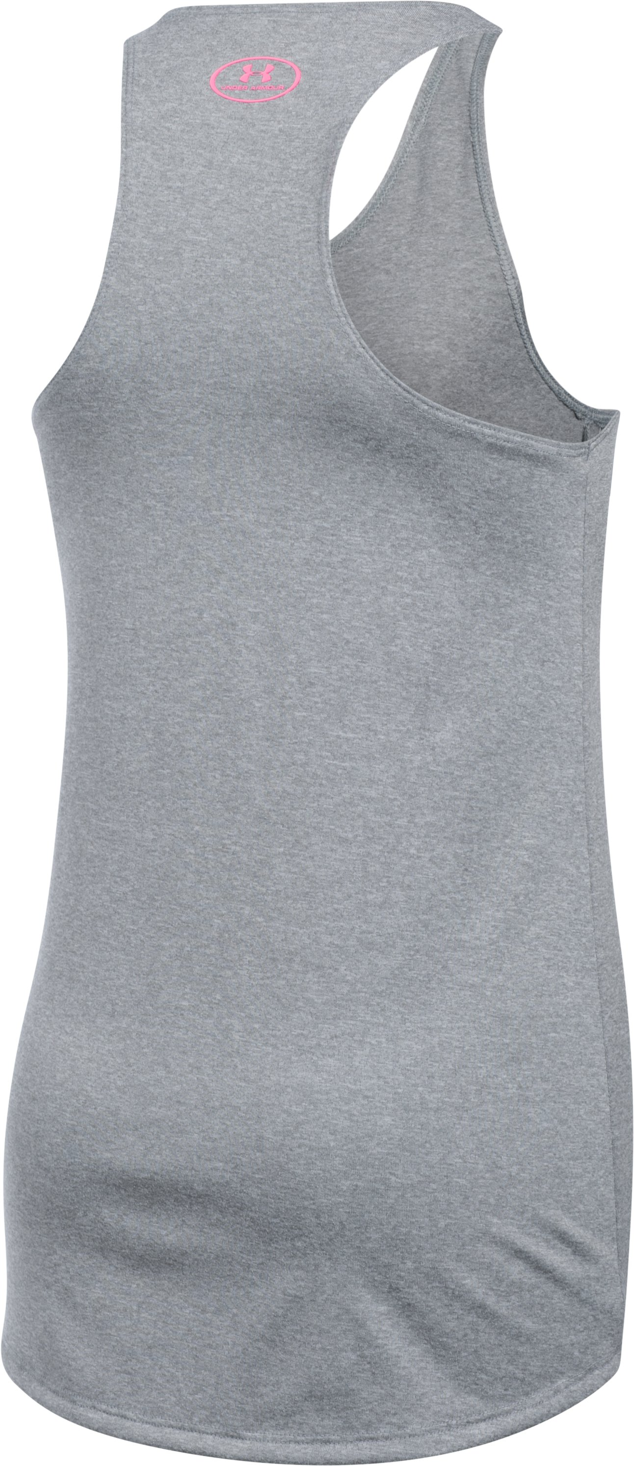 Girls' UA Undeniable Tank, True Gray Heather,