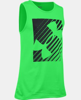 New Arrival Boys' UA Inclined Wordmark Tank  1 Color $17.99 to $22.99
