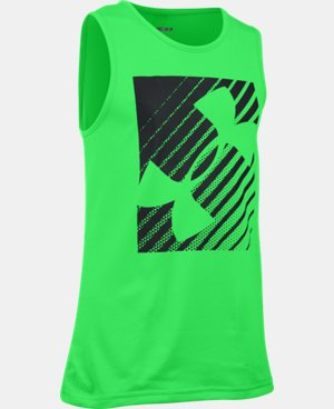 Boys' UA Inclined Wordmark Tank LIMITED TIME: FREE U.S. SHIPPING 1 Color $17.99