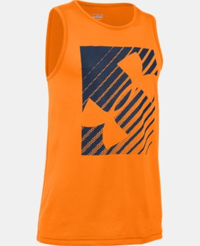 Boys' UA Inclined Wordmark Tank  2 Colors $17.99
