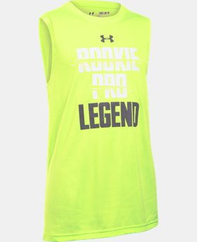 New Arrival Boys' UA Rookie Pro Legend Sleeveless T-Shirt  1 Color $14.99