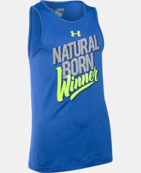 Boys' UA Natural Born Winner Sleeveless T-Shirt  1 Color $14.99