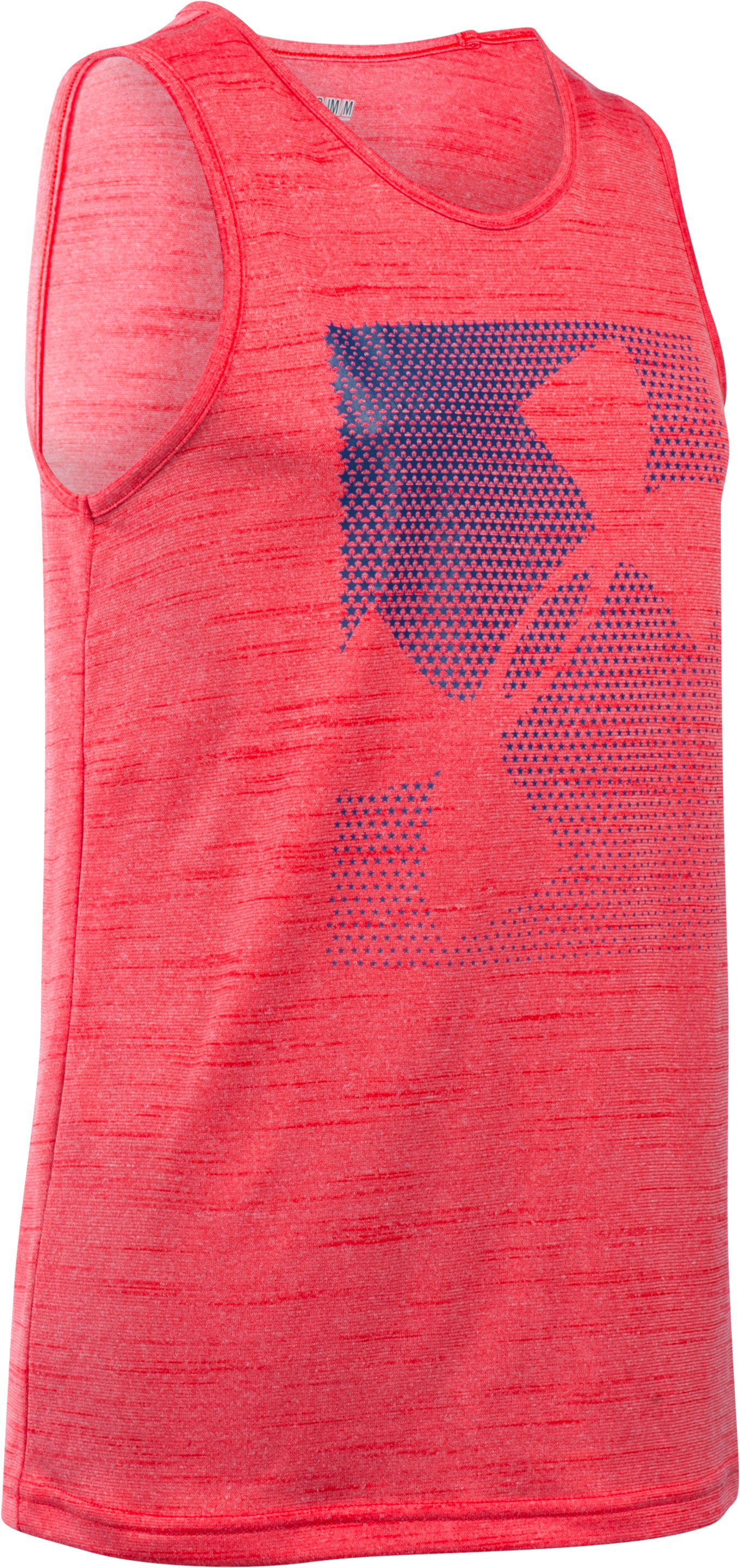 Boys' UA Stars & Logo Tank, RISK RED