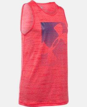 New Arrival Boys' UA Stars & Logo Tank LIMITED TIME: FREE SHIPPING 1 Color $24.99