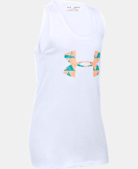 Girls' UA Favorite Big Logo Tank  4 Colors $14.99