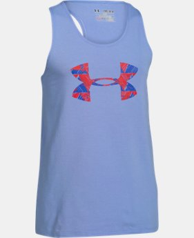 New Arrival Girls' UA Favorite Big Logo Tank LIMITED TIME: FREE SHIPPING 1 Color $19.99