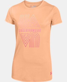 New Arrival Girls' UA Run Short Sleeve  1 Color $19.99