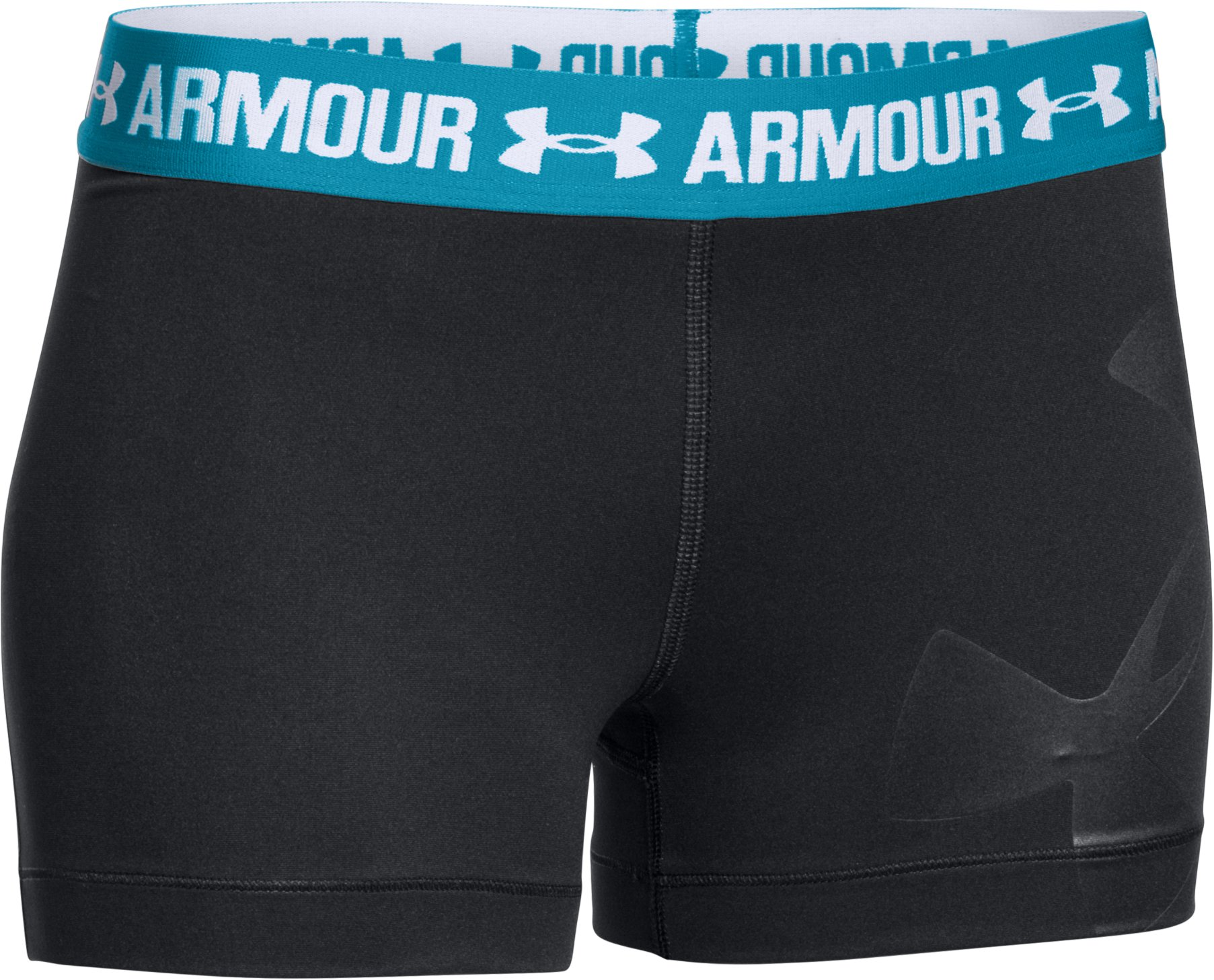 Women's UA HeatGear® Armour Graphic Shorty, Black