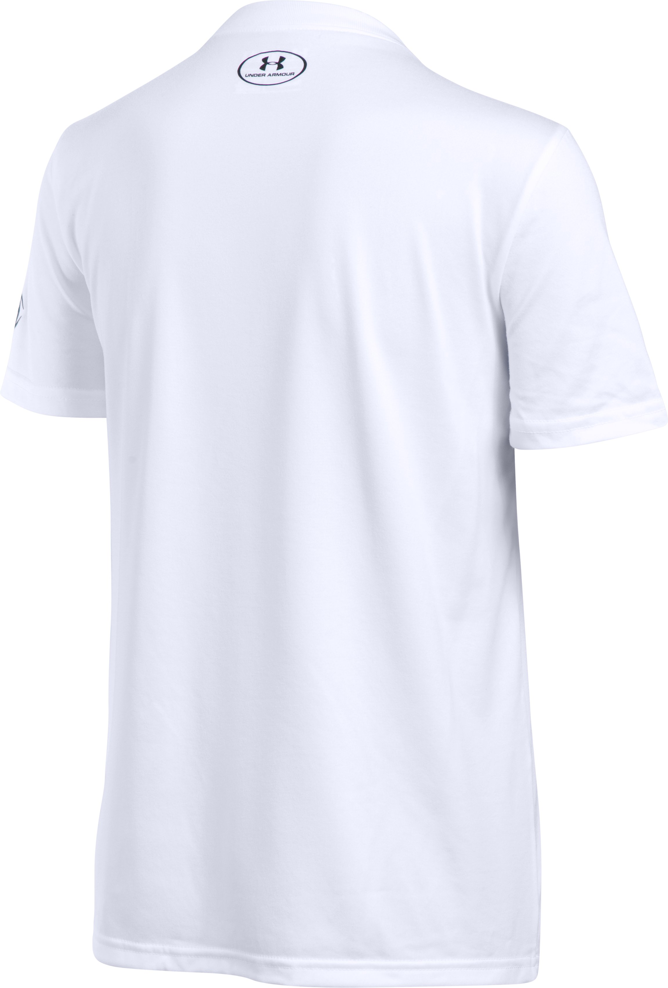 Boys' UA Try & Stop Me T-Shirt, White, undefined