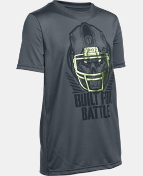 Boys' UA Battle Helmet T-Shirt LIMITED TIME: FREE U.S. SHIPPING 1 Color $17.99