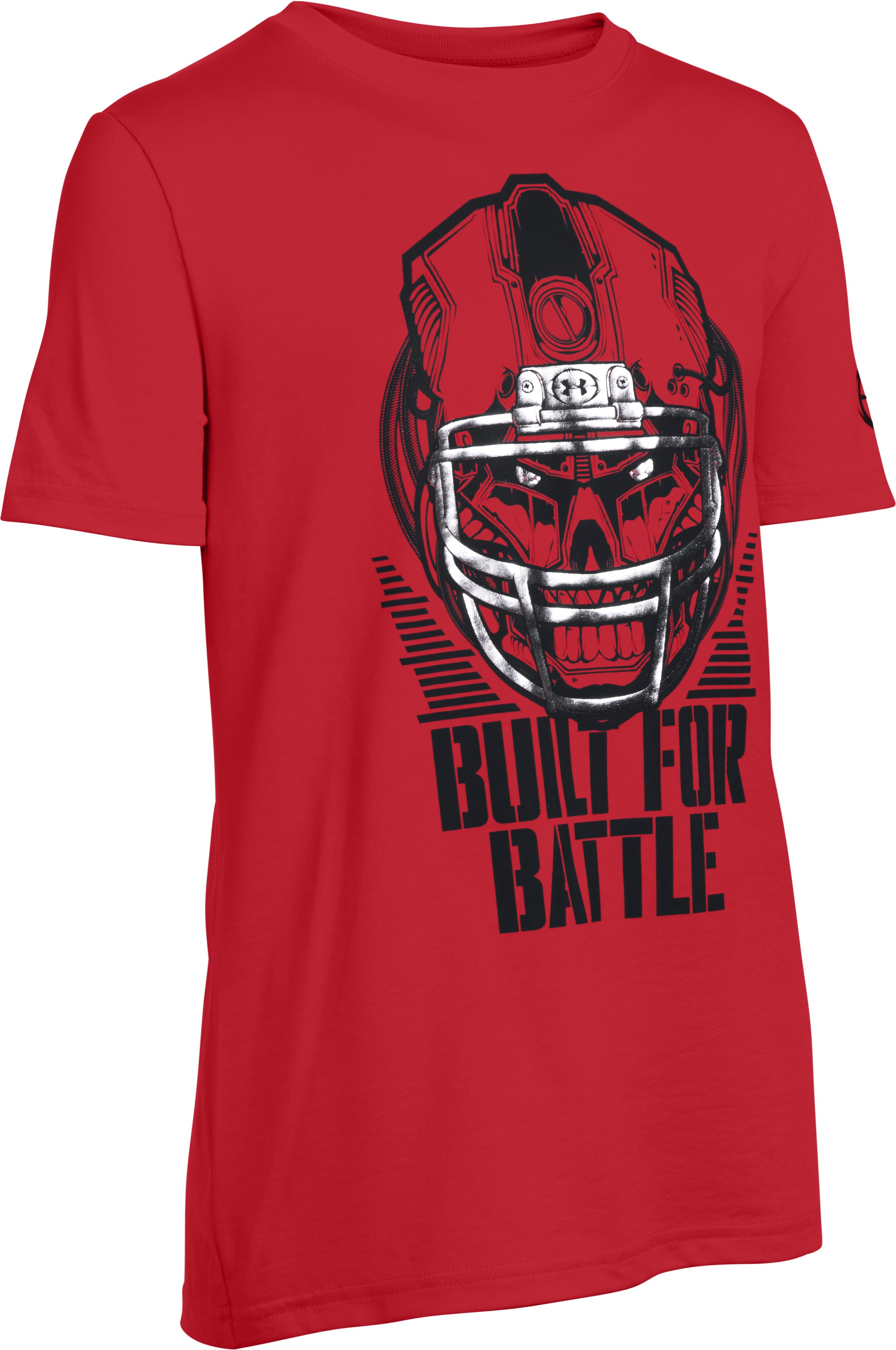 Boys' UA Battle Helmet T-Shirt, Red
