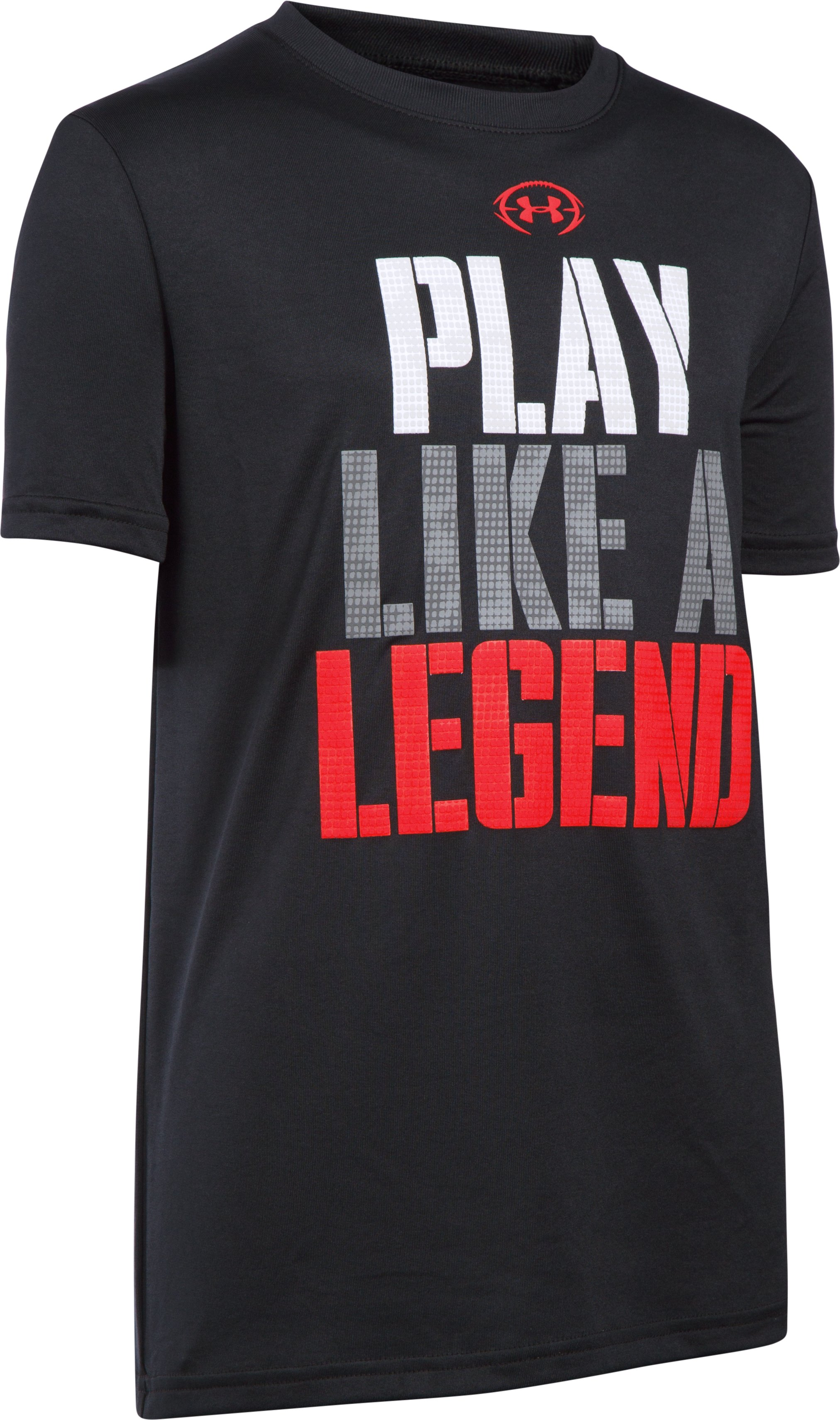 Boys' UA Play Like A Legend T-Shirt, Black , undefined